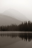 Foggy mountain lake - 168747713
