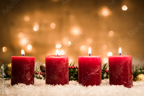 Leinwandbild Motiv adventszeit