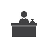 Front Desk icon vector, filled flat sign, solid pictogram isolated on white. Reception symbol, logo illustration. Pixel perfect vector graphics - 168755724