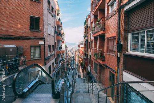 Aluminium Barcelona Street in Barcelona