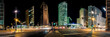 Skyline Panorama Potsdamer Platz in Berlin bei Nacht