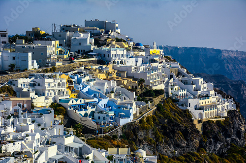 Wall mural Panorama Greek island of Santorini In summer