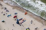 plaża, ludzie, Ustka, Rowy, Bałtyk, wypoczynek, piasek,