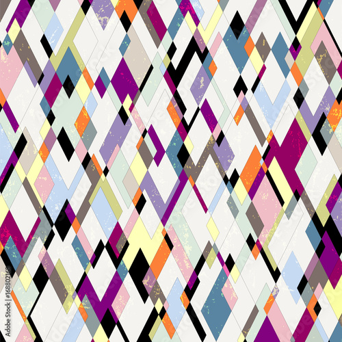 Aluminium Abstract met Penseelstreken abstract pattern background, with strokes, splashes and rhombus/triangles