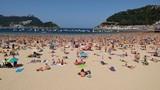 Beach at San Sebastian, Spain