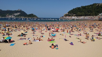 Beach at San Sebastian, Spain