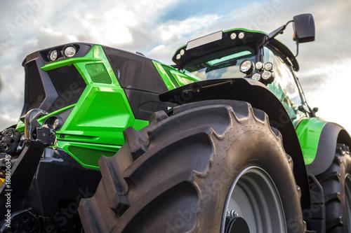 plain modern tractor Poster