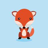 cute fox cartoon mascot. vector illustration