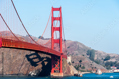 Golden Gate Bridge  between San Francisco Bay and the Pacific Ocean, San Francis Poster