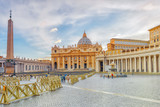 St. Peter's Square and St. Peter's Basilica, Vatican City, Italy. - 168831711