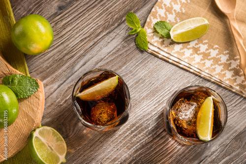 Two Cuba libre cocktails Poster