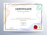 Certificate template design with simple concept. colorful business certificate design. - 168833389