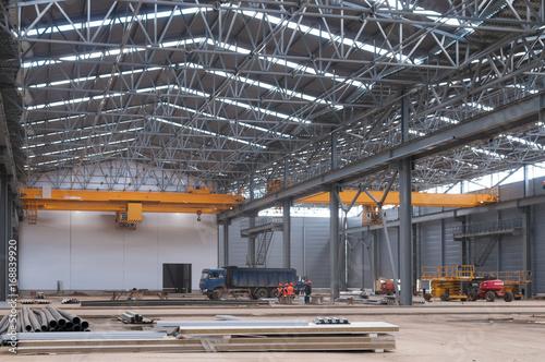 Fotobehang Oude verlaten gebouwen Factory warehouse overhead crane