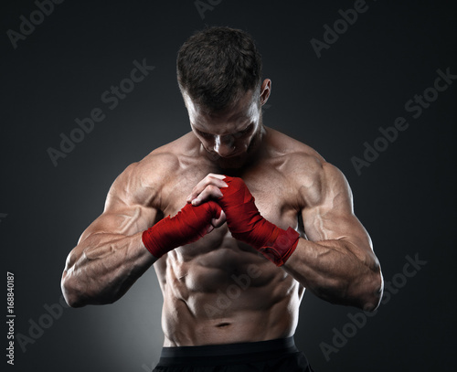 MMA fighter got ready for the fight