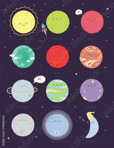 cute solar system and planet