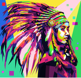 Apache Girl in pop art style