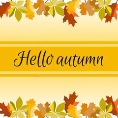 A banner of Hello autumn © gersa