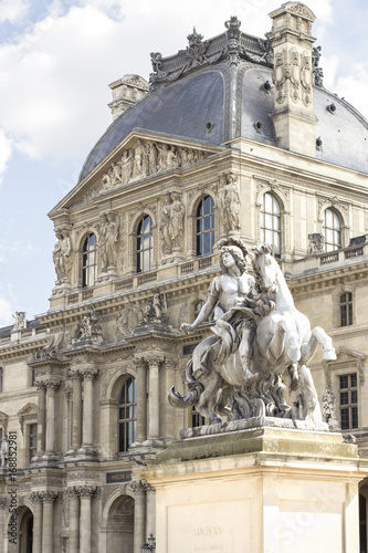 The Louvre Museum and Pyramid. Paris. France. Poster