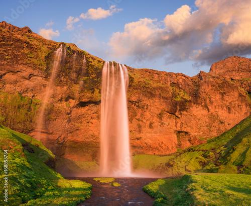 Seljalandsfoss waterfall in Iceland - 168858764