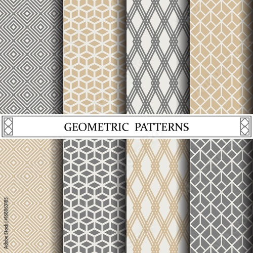 geometric vector pattern,pattern fills, web page background,surface textures - 168863185