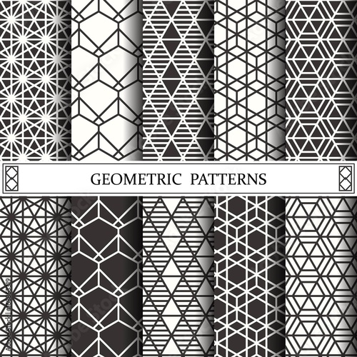 Poster hexagon geometric vector pattern,pattern fills, web page, background, surface and textures