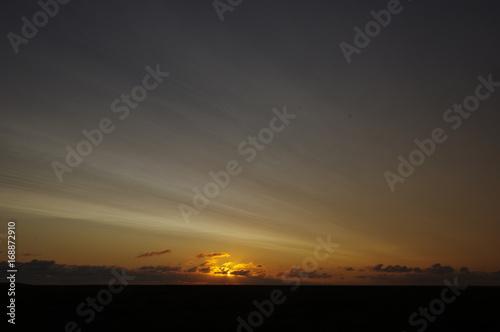 Aluminium Noordzee Sonnenuntergang über der Nordsee