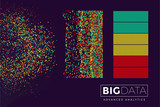 Fototapety Big data visualization. Futuristic big data analytics