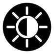 brightness black circle icon