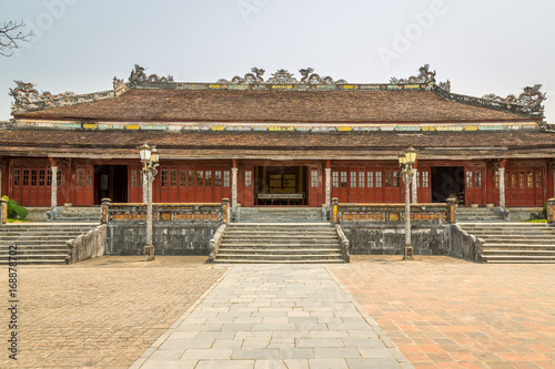 Fotobehang Seoel Pavillion in the Imperial City, Complex of Hue Monuments in Hue, World Heritage Site, Vietnam