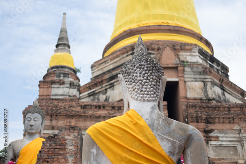 Fotobehang Thailand Buddha Status at Wat Yai Chaimongkol