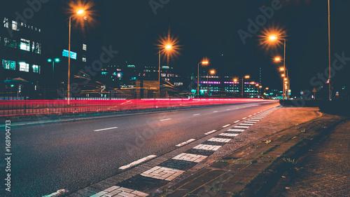Light Trails on Street