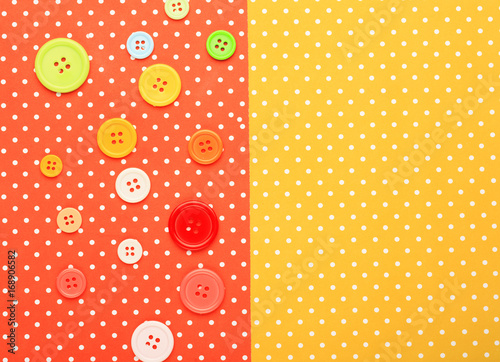 Poster Buttons with colorful topped background