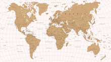 World Map Vintage Vector