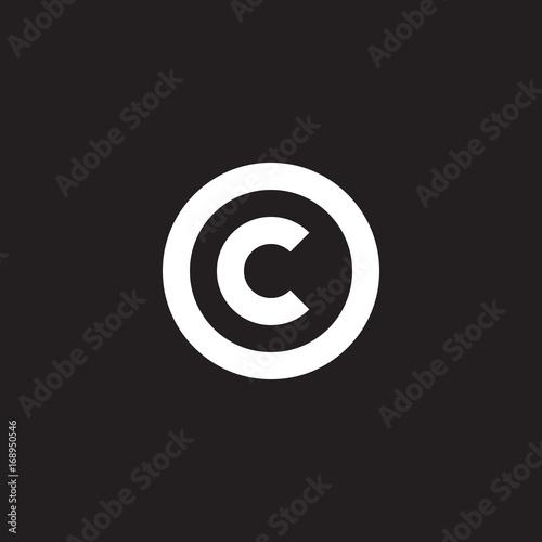 Initial Lowercase Letter Logo Oc Co C Inside O Monogram Rounded
