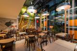 Modern restaurant interior in the night - 168951398