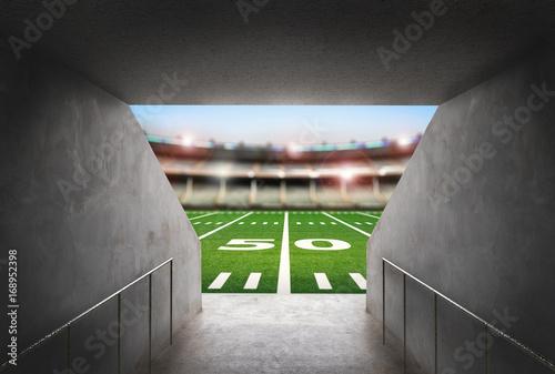 tunel na stadionie futbolu amerykańskiego