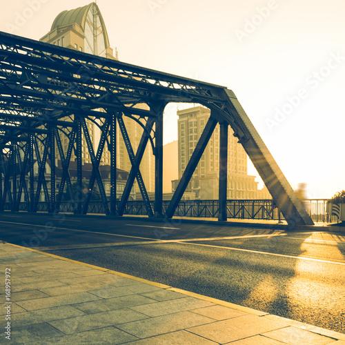 view of the Waibaidu Bridge in Shanghai,China.