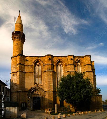 Fotobehang Cyprus Exterior view to Haydarpasa Cami mosque at Lefcosa, Cyprus