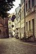 Street scene in Nikolaiviertel, the oldest part of Berlin Germany