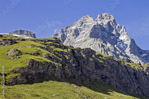 Breuil Cervinia and Mount Cervino Matterhorn panorama Poster