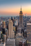 Fototapeta Nowy York - New York City skyline at sunset © lucky-photo