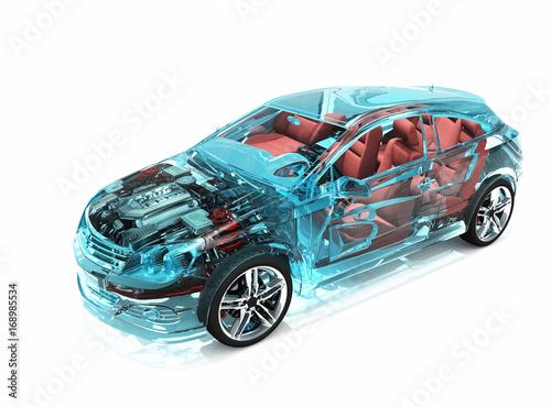 Fotobehang Auto Glass auto.