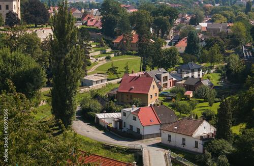 Veduta aerea della cittadina di Kutna Hora Poster