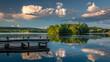 Sunset on Swartswood Lake at Swartswood Lake State Park, New Jersey