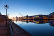 Liffey river promenade in the early morning. Dublin, Ireland. - 169002131
