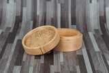 Bamboo box or basket use for steam dim sum food.