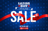 Happy Labor Day background.Labor Day Sale promotion advertising banner template.American labor day wallpaper.Vector illustration. - 169018990