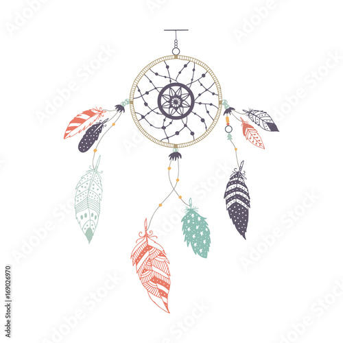 cute-hand-drawn-dreamcatcher-with-feather-vector-handdrawn-doodle-illustration