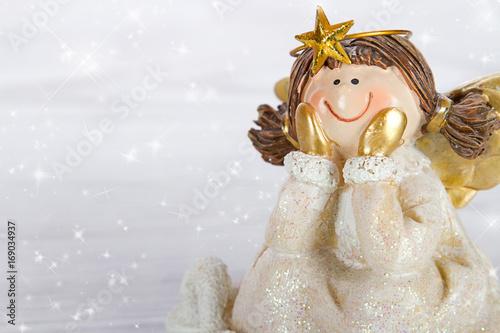 Engel Weihnachten mit Schneeflocken
