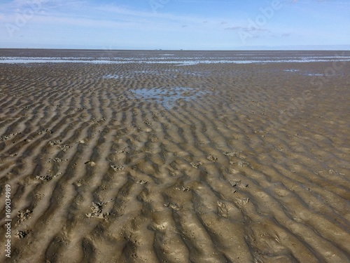 Papiers peints La Mer du Nord Meerseboden der Nordsee bei Ebbe / Watt bzw. Wattenmeer